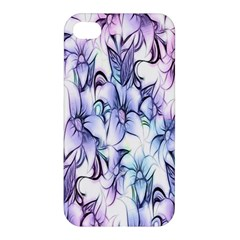 Floral Pattern Background Apple Iphone 4/4s Premium Hardshell Case by Simbadda