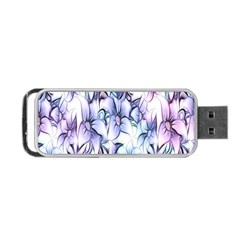 Floral Pattern Background Portable Usb Flash (one Side) by Simbadda