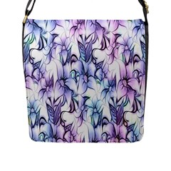 Floral Pattern Background Flap Messenger Bag (l)  by Simbadda