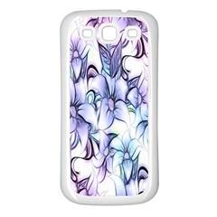 Floral Pattern Background Samsung Galaxy S3 Back Case (white) by Simbadda