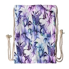 Floral Pattern Background Drawstring Bag (large) by Simbadda