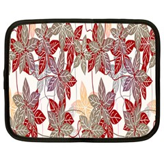 Floral Pattern Background Netbook Case (large) by Simbadda
