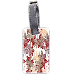 Floral Pattern Background Luggage Tags (one Side)  by Simbadda