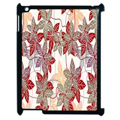 Floral Pattern Background Apple Ipad 2 Case (black) by Simbadda