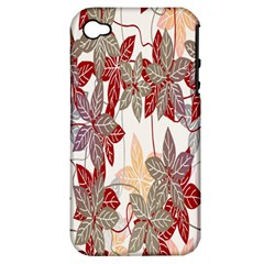 Floral Pattern Background Apple Iphone 4/4s Hardshell Case (pc+silicone) by Simbadda