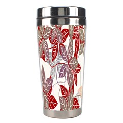 Floral Pattern Background Stainless Steel Travel Tumblers by Simbadda