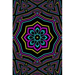 Cyan Yellow Magenta Kaleidoscope 5 5  X 8 5  Notebooks by Simbadda