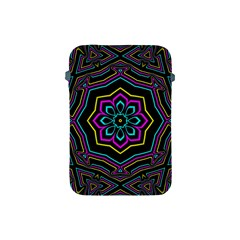 Cyan Yellow Magenta Kaleidoscope Apple Ipad Mini Protective Soft Cases by Simbadda