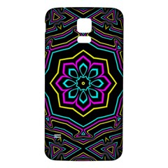 Cyan Yellow Magenta Kaleidoscope Samsung Galaxy S5 Back Case (white)