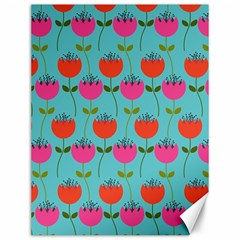 Tulips Floral Background Pattern Canvas 12  X 16