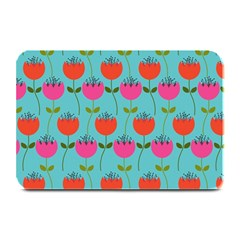 Tulips Floral Background Pattern Plate Mats by Simbadda