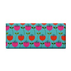 Tulips Floral Background Pattern Cosmetic Storage Cases by Simbadda