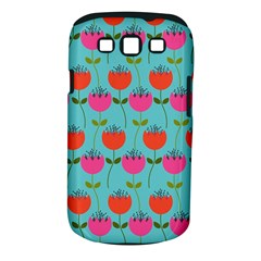 Tulips Floral Background Pattern Samsung Galaxy S Iii Classic Hardshell Case (pc+silicone) by Simbadda
