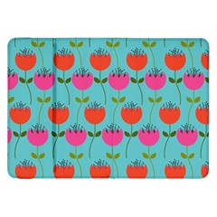 Tulips Floral Background Pattern Samsung Galaxy Tab 8 9  P7300 Flip Case by Simbadda