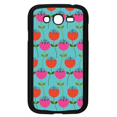 Tulips Floral Background Pattern Samsung Galaxy Grand Duos I9082 Case (black) by Simbadda