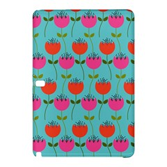 Tulips Floral Background Pattern Samsung Galaxy Tab Pro 10 1 Hardshell Case by Simbadda