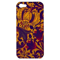 Floral Pattern Apple Iphone 5 Hardshell Case by Valentinaart