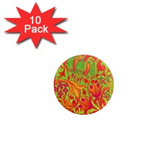 Floral Pattern 1  Mini Magnet (10 Pack)  by Valentinaart