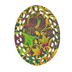 Floral Pattern Ornament (oval Filigree) by Valentinaart