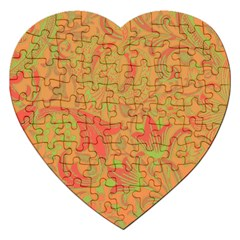 Floral Pattern Jigsaw Puzzle (heart) by Valentinaart