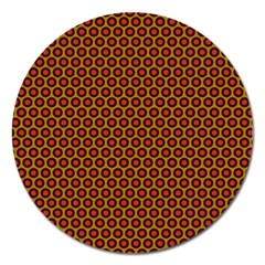 Lunares Pattern Circle Abstract Pattern Background Magnet 5  (round)