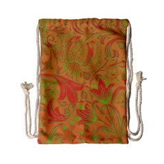 Floral Pattern Drawstring Bag (small) by Valentinaart