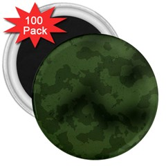 Vintage Camouflage Military Swatch Old Army Background 3  Magnets (100 Pack) by Simbadda