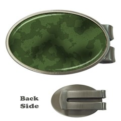 Vintage Camouflage Military Swatch Old Army Background Money Clips (oval)  by Simbadda