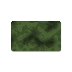Vintage Camouflage Military Swatch Old Army Background Magnet (name Card) by Simbadda