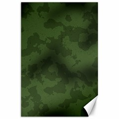 Vintage Camouflage Military Swatch Old Army Background Canvas 24  X 36  by Simbadda