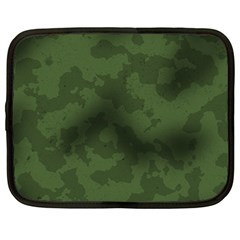 Vintage Camouflage Military Swatch Old Army Background Netbook Case (large) by Simbadda