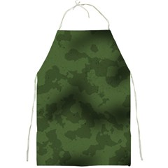 Vintage Camouflage Military Swatch Old Army Background Full Print Aprons by Simbadda
