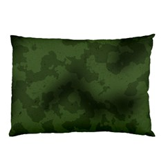 Vintage Camouflage Military Swatch Old Army Background Pillow Case (two Sides) by Simbadda