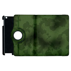 Vintage Camouflage Military Swatch Old Army Background Apple Ipad 3/4 Flip 360 Case by Simbadda
