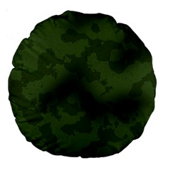 Vintage Camouflage Military Swatch Old Army Background Large 18  Premium Round Cushions by Simbadda