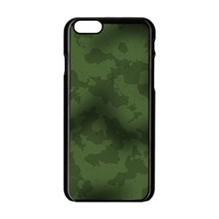 Vintage Camouflage Military Swatch Old Army Background Apple Iphone 6/6s Black Enamel Case