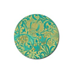 Floral Pattern Rubber Round Coaster (4 Pack)