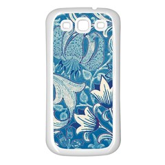 Floral Pattern Samsung Galaxy S3 Back Case (white) by Valentinaart