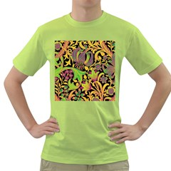 Floral Pattern Green T Shirt