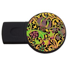 Floral Pattern Usb Flash Drive Round (2 Gb) by Valentinaart