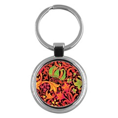 Floral Pattern Key Chains (round)  by Valentinaart