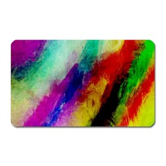 Colorful Abstract Paint Splats Background Magnet (rectangular) by Simbadda