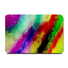 Colorful Abstract Paint Splats Background Small Doormat  by Simbadda