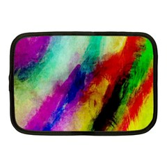 Colorful Abstract Paint Splats Background Netbook Case (medium)  by Simbadda