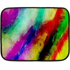 Colorful Abstract Paint Splats Background Double Sided Fleece Blanket (mini)  by Simbadda