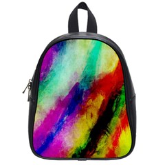Colorful Abstract Paint Splats Background School Bags (small)  by Simbadda
