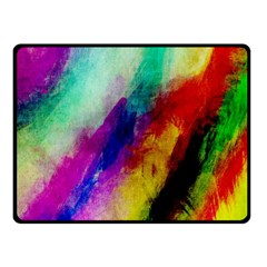 Colorful Abstract Paint Splats Background Fleece Blanket (small) by Simbadda