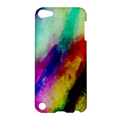 Colorful Abstract Paint Splats Background Apple Ipod Touch 5 Hardshell Case by Simbadda