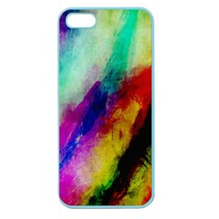 Colorful Abstract Paint Splats Background Apple Seamless Iphone 5 Case (color)