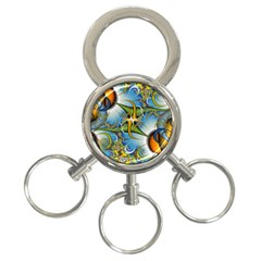 Random Fractal Background Image 3 Ring Key Chains by Simbadda